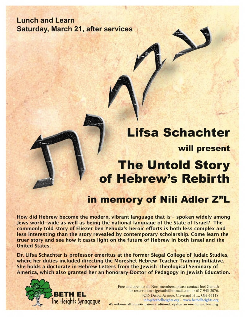 150321 Lifsa Schachter Lunch & Learn