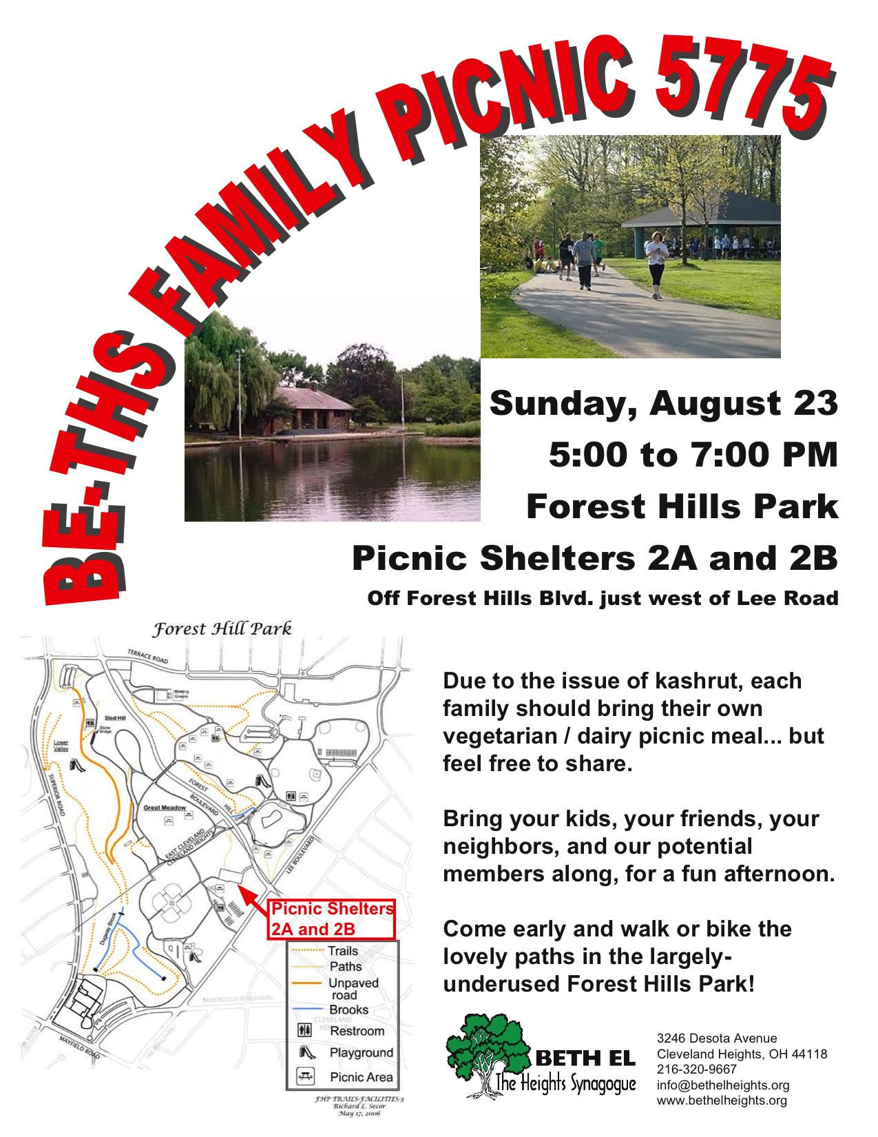 flyer: BE-THS Family PIcnic 2015